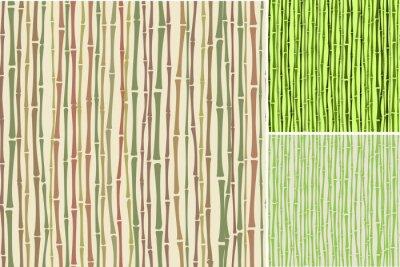 Fotomural Textura sin fisuras con tallos de bambú