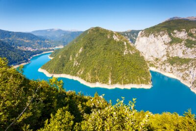 Fotomural The Piva river in Montenegro