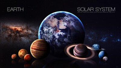 Fotomural Tierra - Resolución 5K Infografía presenta uno del planeta del sistema solar. Esta imagen de elementos proporcionados por la NASA