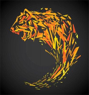 Fotomural Tigre polígono