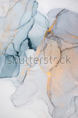 Fotomural Tinta, pintura, abstracta. Primer plano de la pintura. Fondo abstracto colorido de la pintura. Pintura al óleo muy texturizada. Detalles de alta calidad.