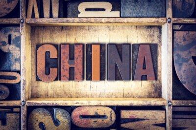 Fotomural Tipo de letra tipográfica de China