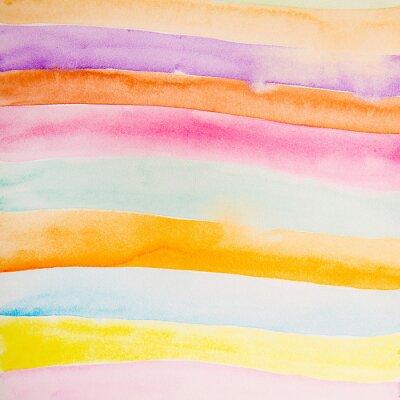 Fotomural Tiras coloridas color agua