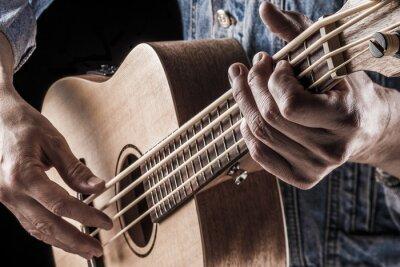 Fotomural Tocando ukulele bajo