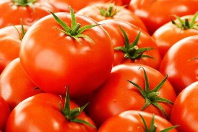 Fotomural Tomates orgánicos frescos en la parada de calle