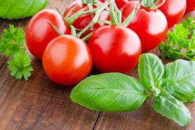 Fotomural Tomates y albahaca