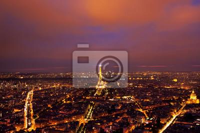 Fotomural Torre Eiffel vista desde arriba después de la puesta del sol