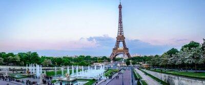 Fotomural Tour Eiffel au crépuscule
