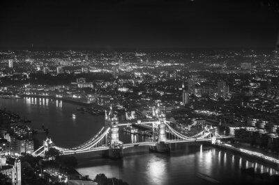 Fotomural Tower Bridge en luces de la noche, Londres