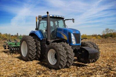 Fotomural Tractor agrícola moderno con macetero