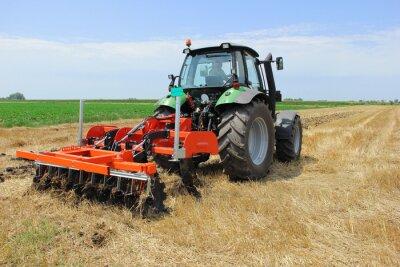 Fotomural Tractor en el campo