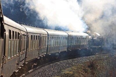 Fotomural Tren a vapor