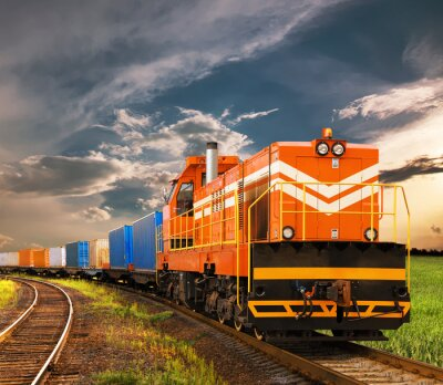 Fotomural tren de carga