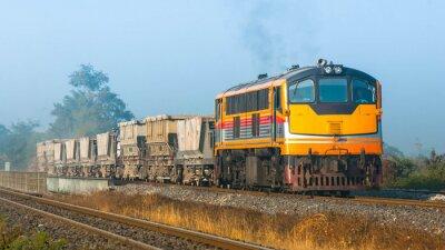 Fotomural Tren del tren de lastre en el área rural, 2013. (Tomado forma lado de la calle pública.)