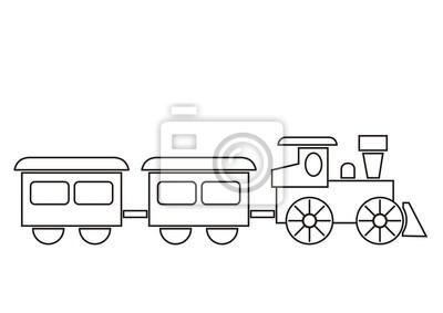 Fotomural Tren Libro Para Colorear