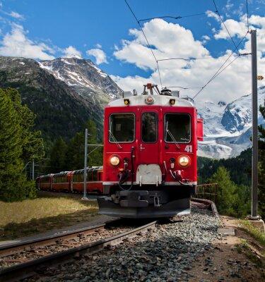 Fotomural trenino rosso del Bernna