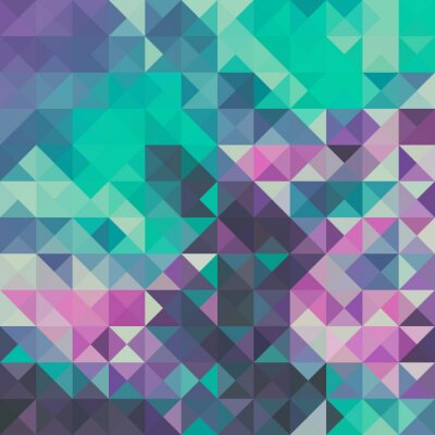 Fotomural Triangle background, green and violet