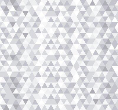 Fotomural Triángulo blanco azulejos sin patrón, vector de fondo.