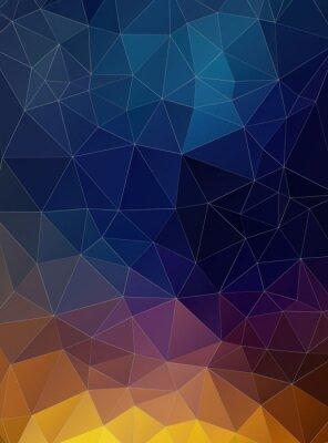 Fotomural Triángulo plana fondo colorido geométrico