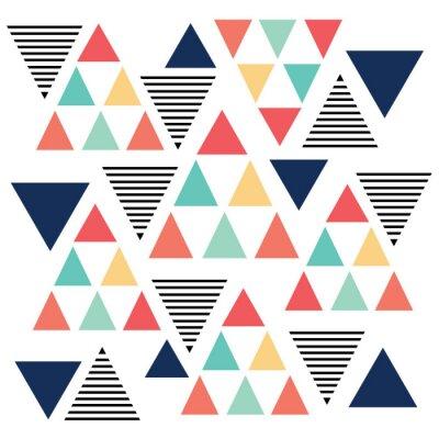 Fotomural Triángulo variación patrón de color