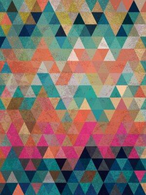 Fotomural Triángulos coloridos con fondo de estilo antiguo