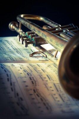 Fotomural tromba Do spartito