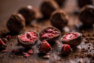 Fotomural Trufas de chocolate oscuro