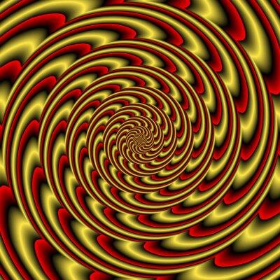 Fotomural Túnel colorido hipnótico abstracto colorido