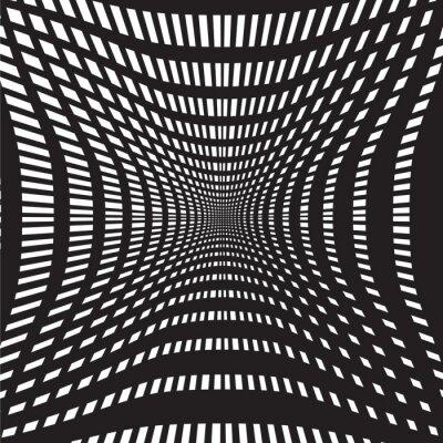 Fotomural Túnel resumen de antecedentes en blanco y negro