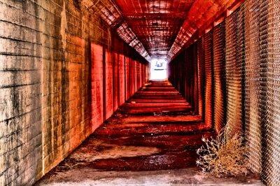 Fotomural Túnel rojo