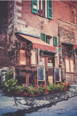 Fotomural Tuscan restaurant