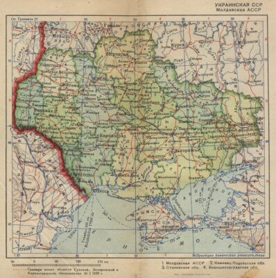 Fotomural Ucraniano SSR cosecha mao.