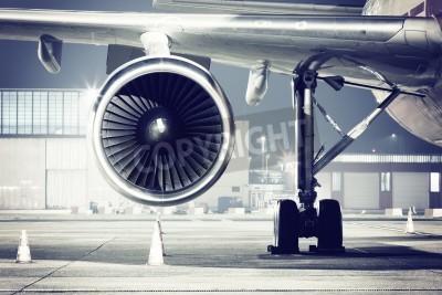 Fotomural Un detalle de turbina de avión