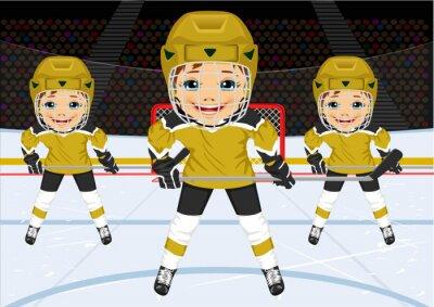 Fotomural Un joven equipo de hockey en uniforme