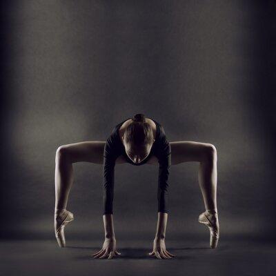 Fotomural Un retrato de mujer joven y bella gimnasta