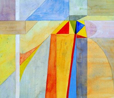 Fotomural una pintura abstracta de la acuarela