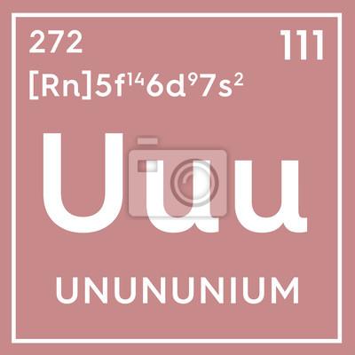 Unununium metales de transicin elemento qumico de la tabla fotomural unununium metales de transicin elemento qumico de la tabla peridica de mendeleev urtaz Choice Image