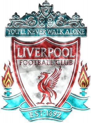 Fotomural Used badge of FC Liverpool