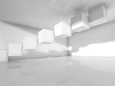 Fotomural Vaciar la arquitectura blanca, ilustración 3 d