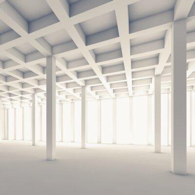 Fotomural Vaciar la habitación abstracta, ilustración 3d cuadrado