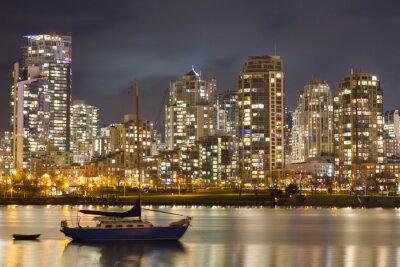 Fotomural Vancouver Skyline y Velero
