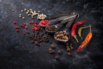 Fotomural Varios pimienta y chile
