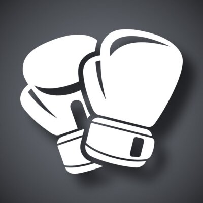 Fotomural Vector boxing gloves icon