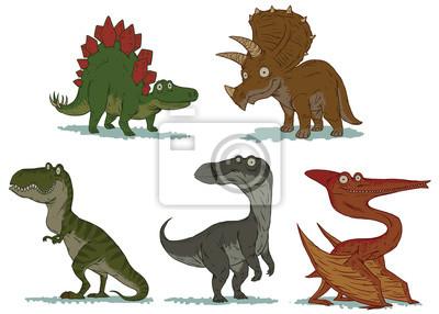 Vector Conjunto De Lindos Dinosaurios Imagenes De Dibujos Animados Fotomural Fotomurales Pterodactilo Triceratops Ave De Rapina Myloview Es Los dinosaurios difícilmente pueden llamarse criaturas lindas, estos no son gatos ni cachorros para ti, su tamaño sin embargo, en nuestro juego conocerás a los pequeños dinosaurios más lindos. fotomural vector conjunto de lindos dinosaurios imagenes de dibujos animados
