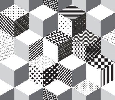 Fotomural Vector cubos 3d patrón