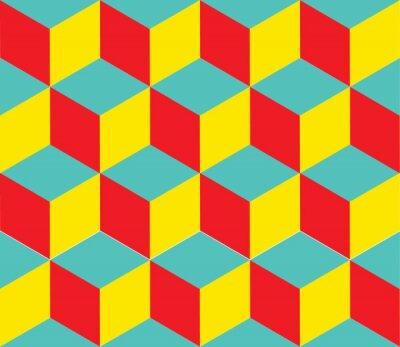Fotomural Vector de fondo geométrico. Formas Cube. Ilusión óptica