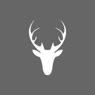 Fotomural Vector de Navidad ciervo cabeza icono