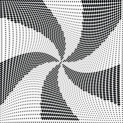 Fotomural Vector de punto de semitono abstracta