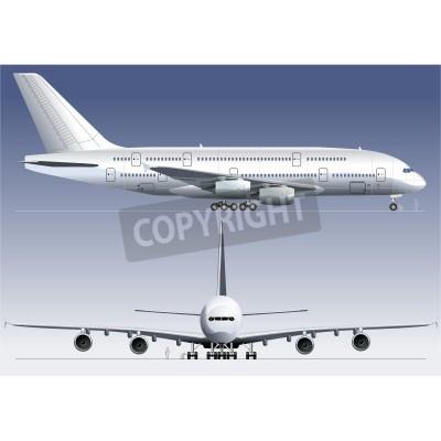 Fotomural Vector double-deck Lagest Jetliner A380