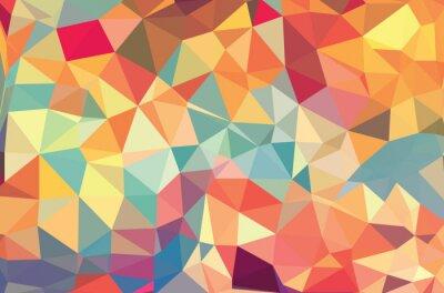 Fotomural Vector formas geométricas. Fondo colorido. Textura para su uso en